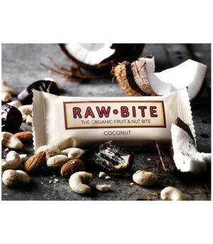 Raw Bite Presna Veganska Energijska Ploščica Kokos