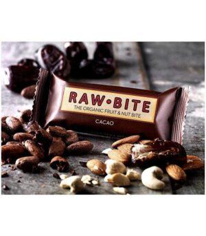 RawBite veganska Presna Energijska Ploščica s Kakavom