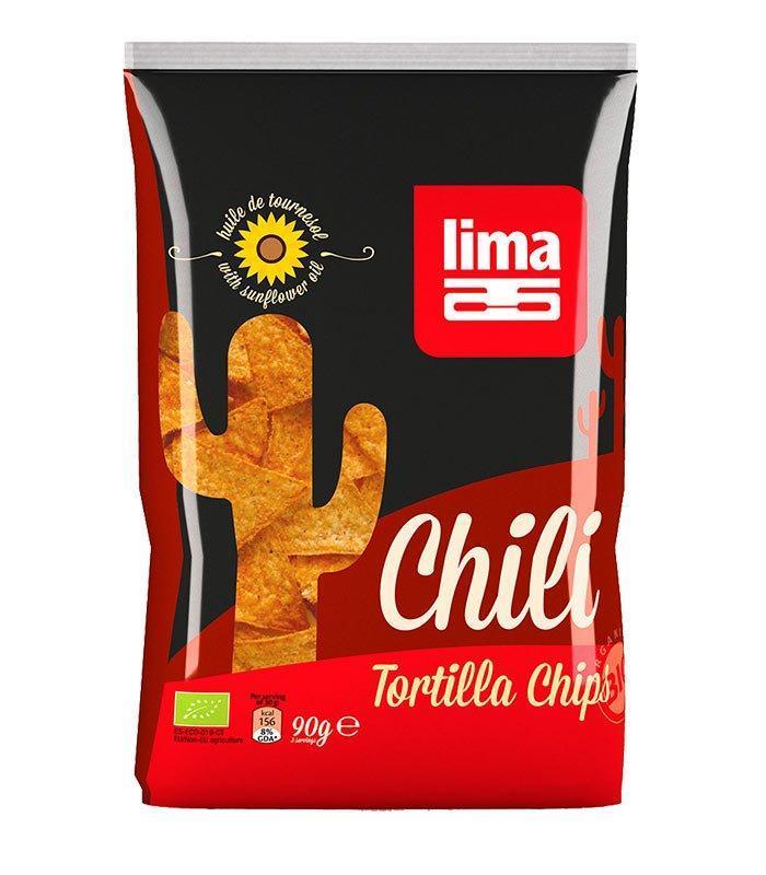 Lima ekološke tortilje čili čips, 90g