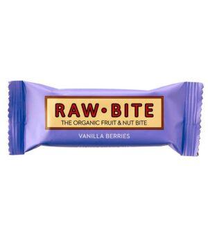 RawBite Vanilija Jagodičevje surova energijska ploščica