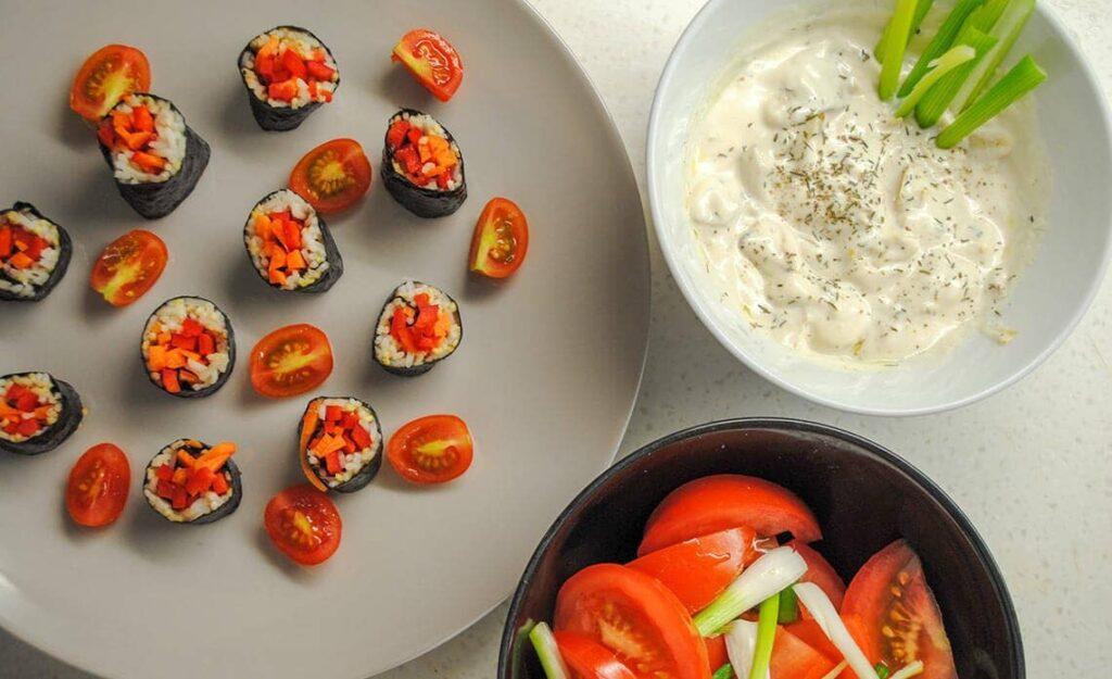 recept za veganski susi