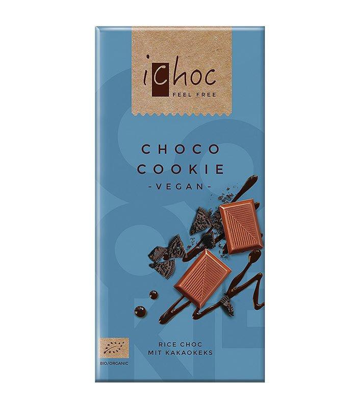 Bio čokolada iChoc Choco Cookie, 80g