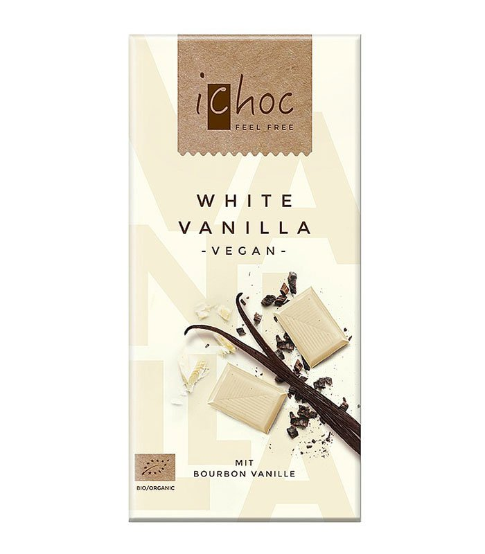Bio iChoc bela čokolada vanilija, 80g