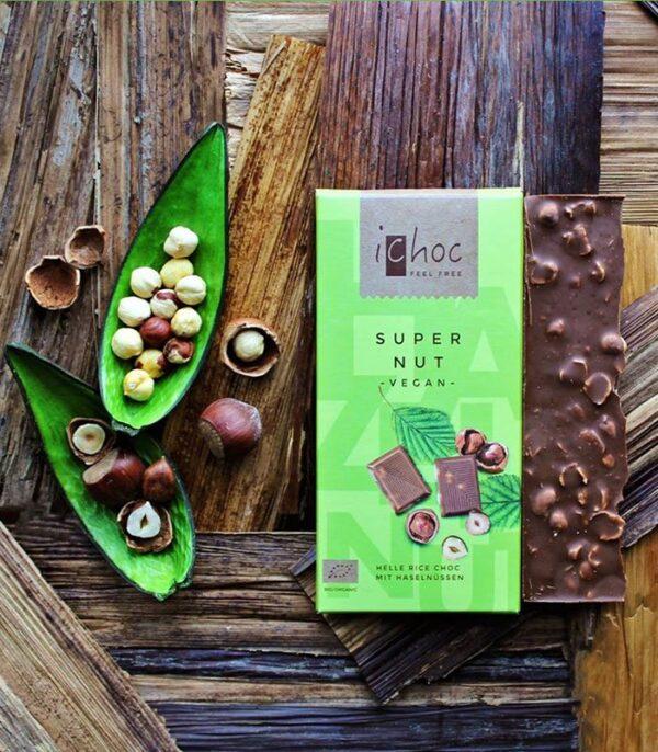 Bio iChoc veganska čokolada z lešniki