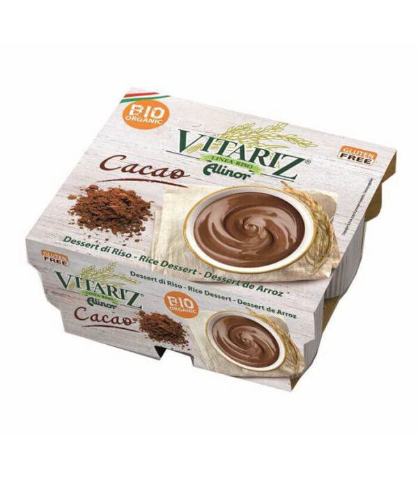 Vitariz bio rižev desert s kakavom, je veganski čokoladni puding brez glutena