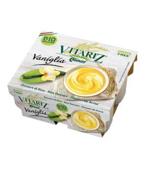 Vitariz bio rižev desert z vanilijo, je veganski vanilijev puding brez glutena
