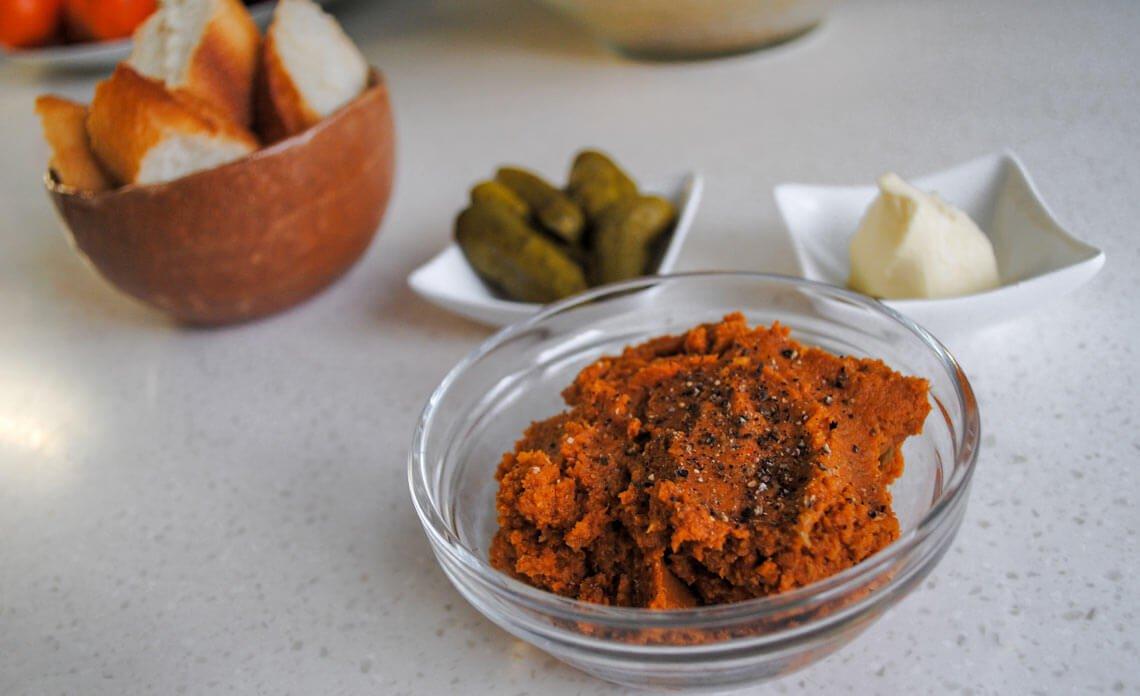 Recept za veganski tatarski biftek