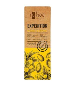 Bio iChoc Expedition Sunny Almond temna nugat cokolada z mandlji