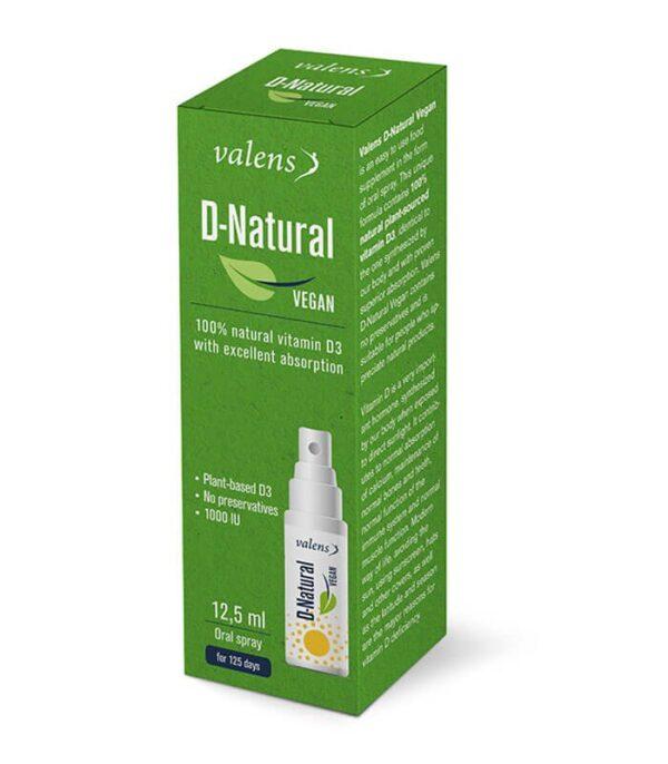 Valens veganski vitamin D ustno pršilo