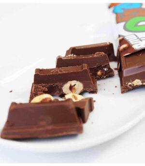 Bio Vego veganska čokolada s celimi lešniki mini, 65g