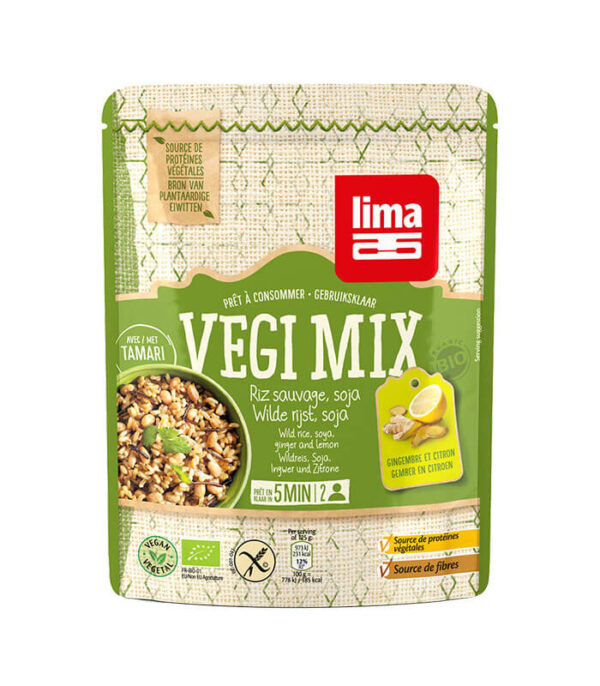 Bio Lima Vegi Mix divji riž, soja, ingver in limona