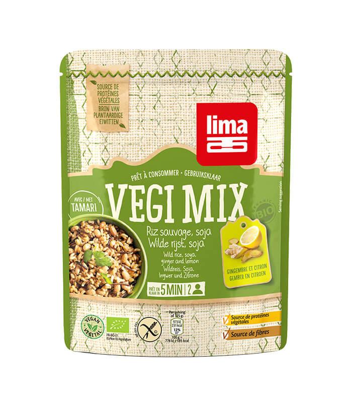 Bio Lima Vegi Mix divji riž, soja, ingver in limona, 250g