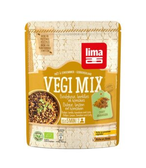 lima bio vegi mix curry, bulgur in leča