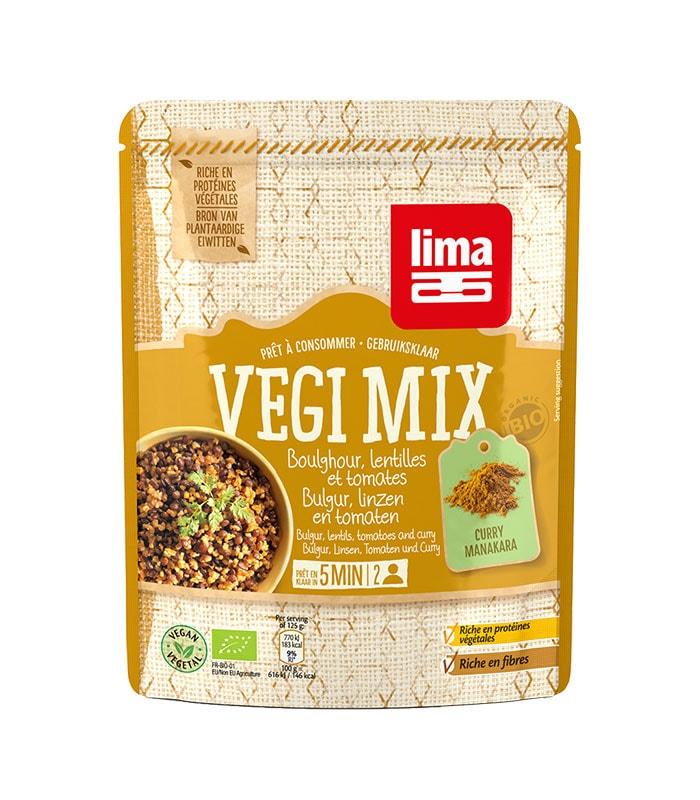 Bio Vegi Mix Curry, bulgur in leča, 250g
