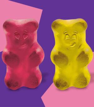 Jealous Sweets Love Bears Ananas in Grenivka, veganski žele medvedki