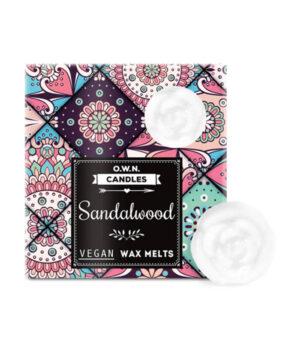 O.W.N. Candles Sandalwood dišeči voski v darilni škatlici