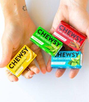 Chewsy veganski žvečilni gumi brez plastike