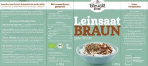 BauckHof Bio Lanena semena mleta, 200g