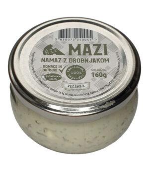 Veganka Šir Mazi namaz z drobnjakom