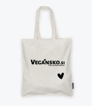 Bombažna vrečka Vegansko.si