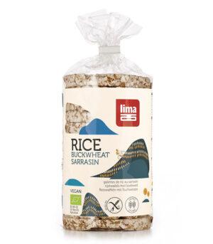Lima bio riževi vaflji z ajdo
