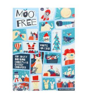 Moo Free Veganski adventni koledar z belo čokolado