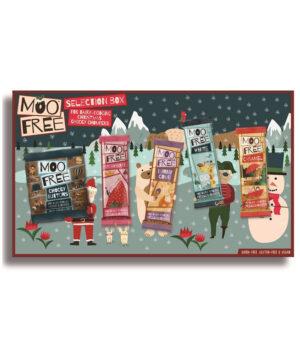 Moo Free darilni paket veganskih čokoladic