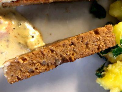 Recept za veganski zrezek v omaki šnicel Denis