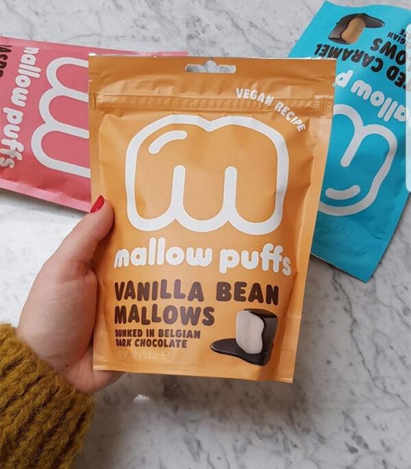 Mallow Puffs veganske penice v čokoladi