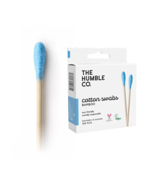 Bombažna palčka za ušesa - biorazgradljiva - modra