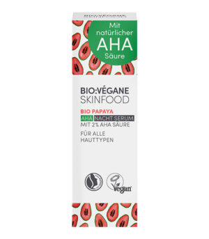 BioVegane Papaja nočni serum z AHA kislinami