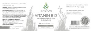 Cytoplan Vitamin B12 1000μg