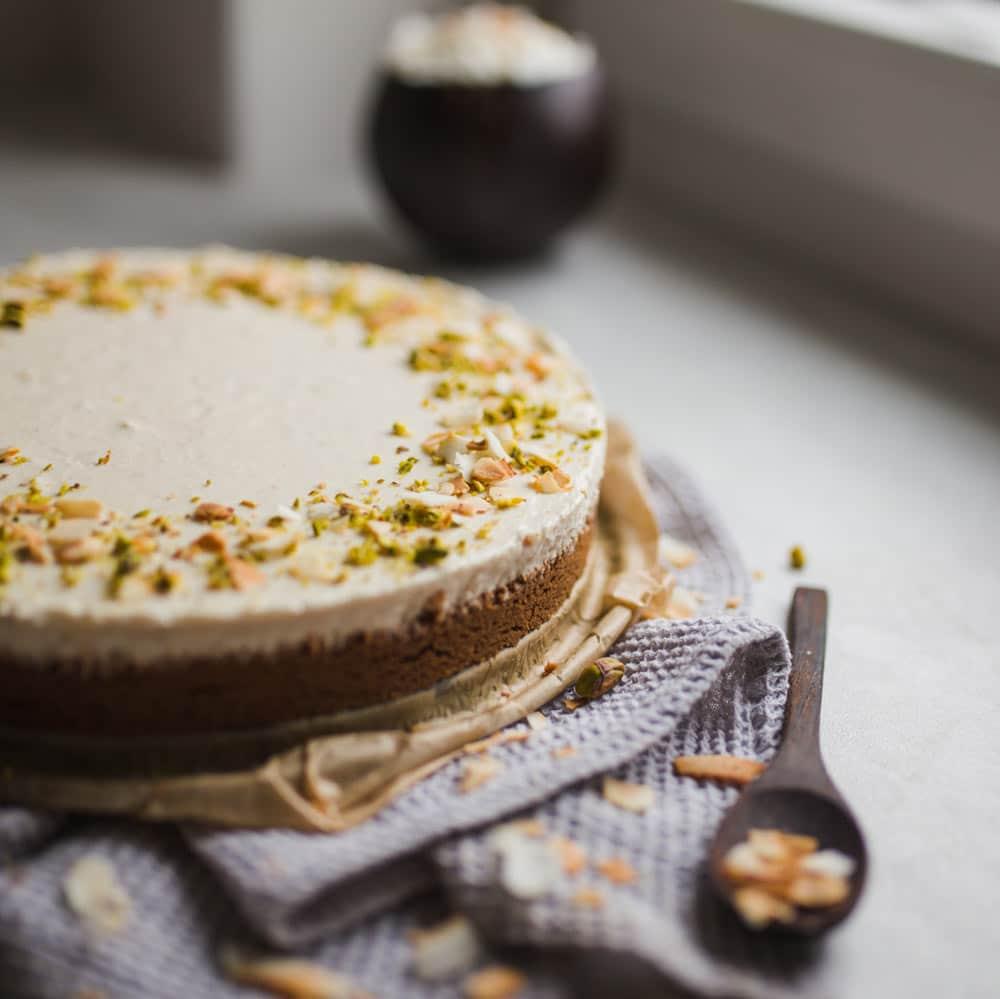 Vega mascarpone cheesecake