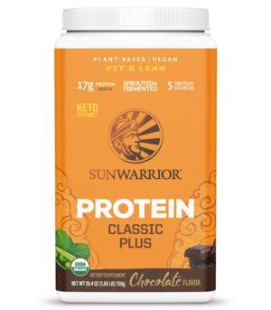 Sunwarrior Classic Plus veganski proteni čokolada