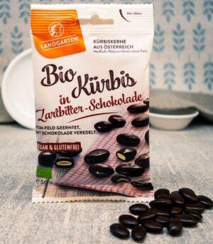 Landgarten bio bučna semena v temni čokoladi