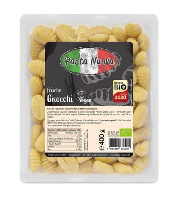Pasta Nuova bio sveži njoki - veganski njoki