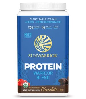 Sunwarrior Warrior blend veganski proteini z okusom Čokolada