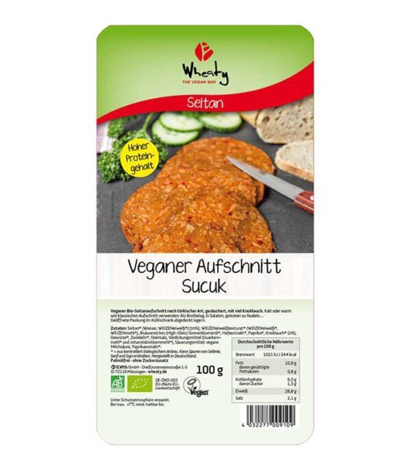 Wheaty bio Sucuk veganska suha salama