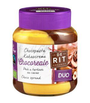 De Rit Duo ekološki in veganski čokoladni namaz iz bele čokolade in lešnikove kreme
