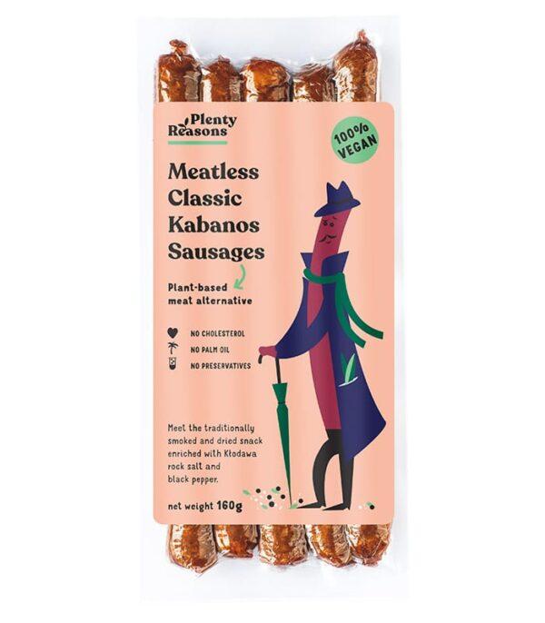 Plenty Reasons brezmesne Kabanos klobasice - veganske kabanos klobasice