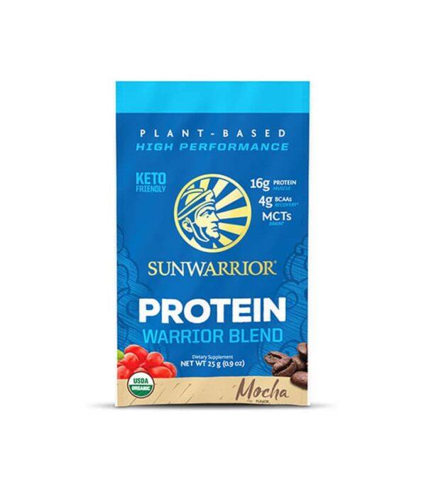 Sunwarrior Warrior blend veganski proteini z okusom Mocha 25g tester