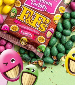 Fabulous Freefrom Factory F&F's - Arašidi v čokoladi veganski