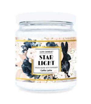 Luxi candle Star Light Caffe Latte mala dišeča sveča z vonjem kave