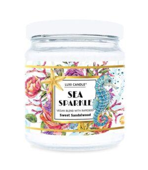 Luxi candle Sea Sparkle Sweet Sandalwood Mala