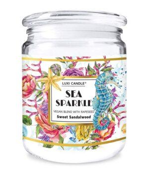 Luxi candle Sea Sparkle Sweet Sandalwood Velika dišeča sveča