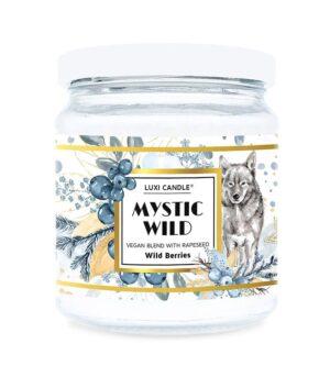 Luxi candle mystic wild berries, mala dišeča sveča v kozarcu z vonjem grozdja