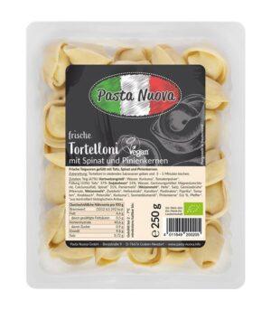 Pasta Nuova bio veganski tortelini s špinačo in pinjolami