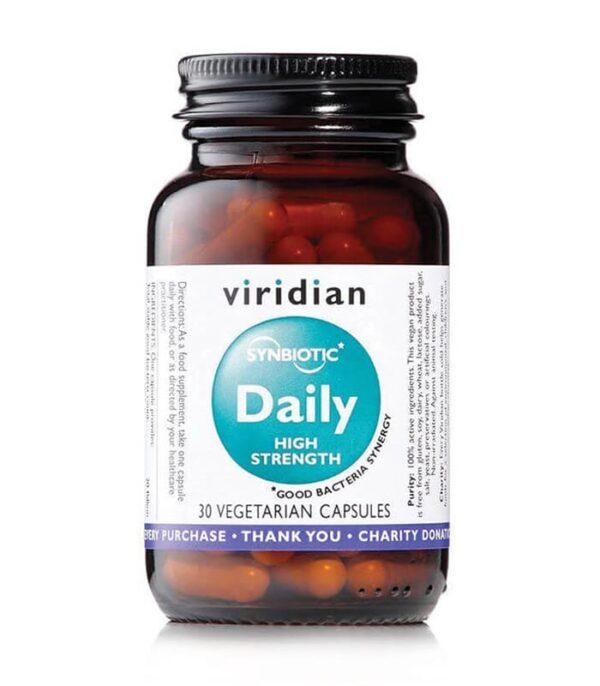 Viridian veganski Probiotiki dnevna simbioza, močnejši, 30 kapsul